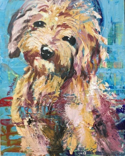 Golden Doodle Abstract