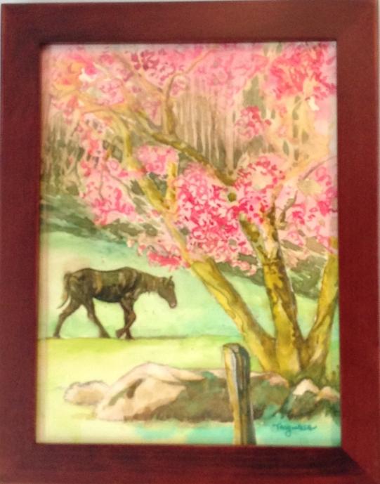 Horse in the Springtime - Sperryville, VA